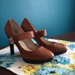 Michael Kors Platform Pump Brown Tan